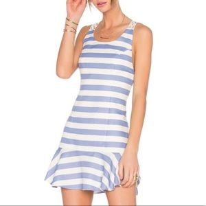 Lovers and Friends blue and white summer dress